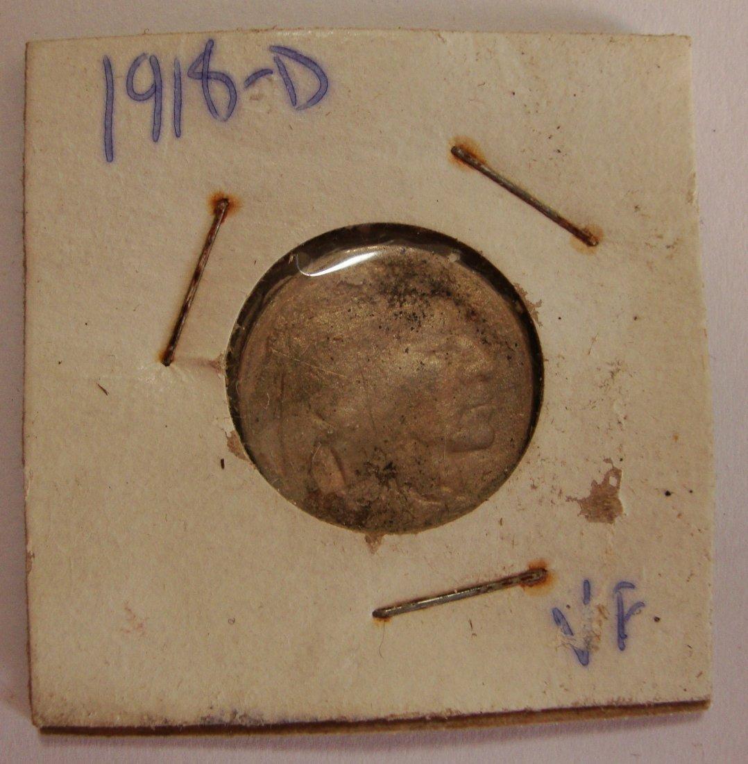 1918 D Buffalo Nickel 5c VF