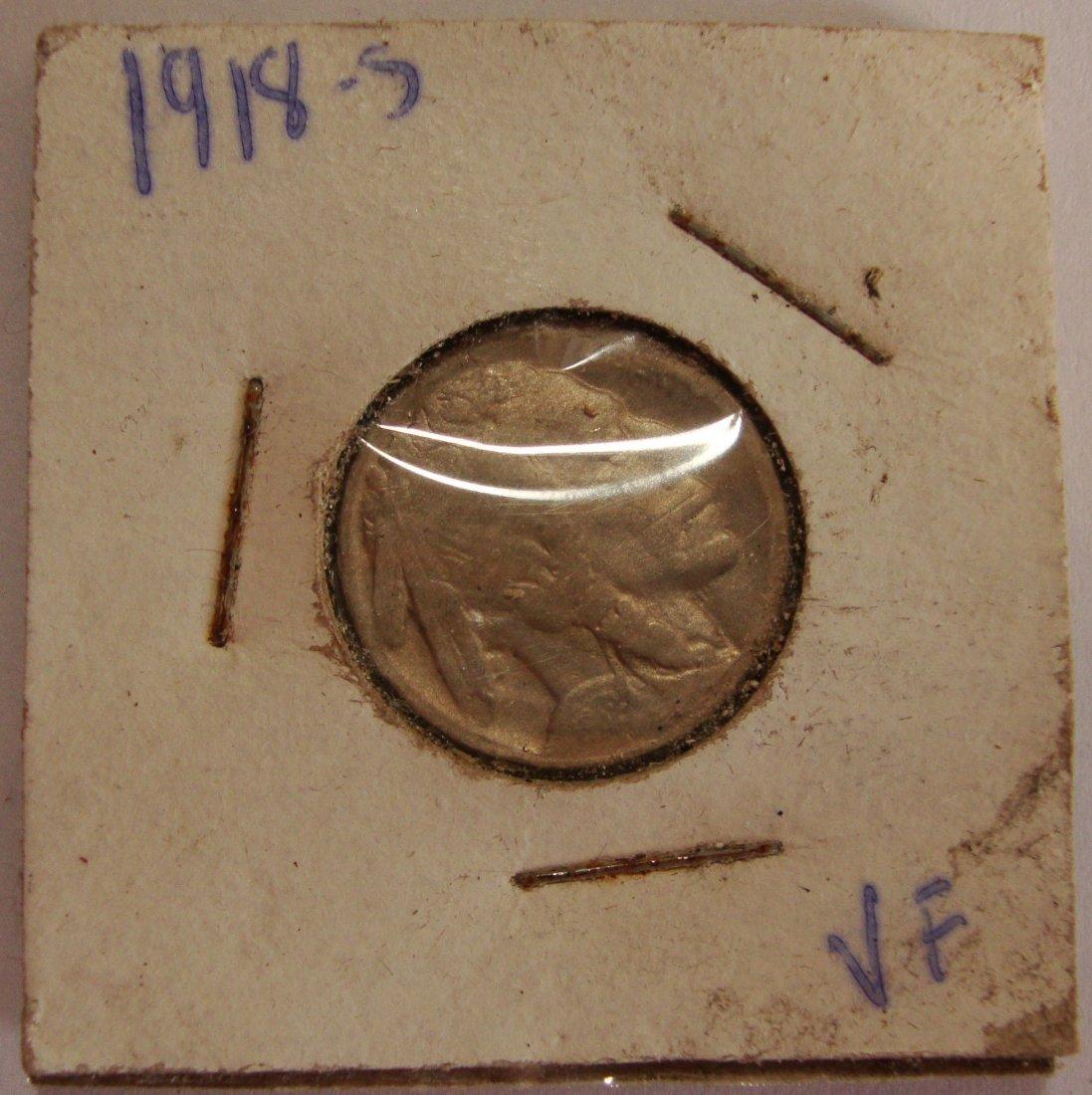 1918 S Buffalo Nickel 5c VF
