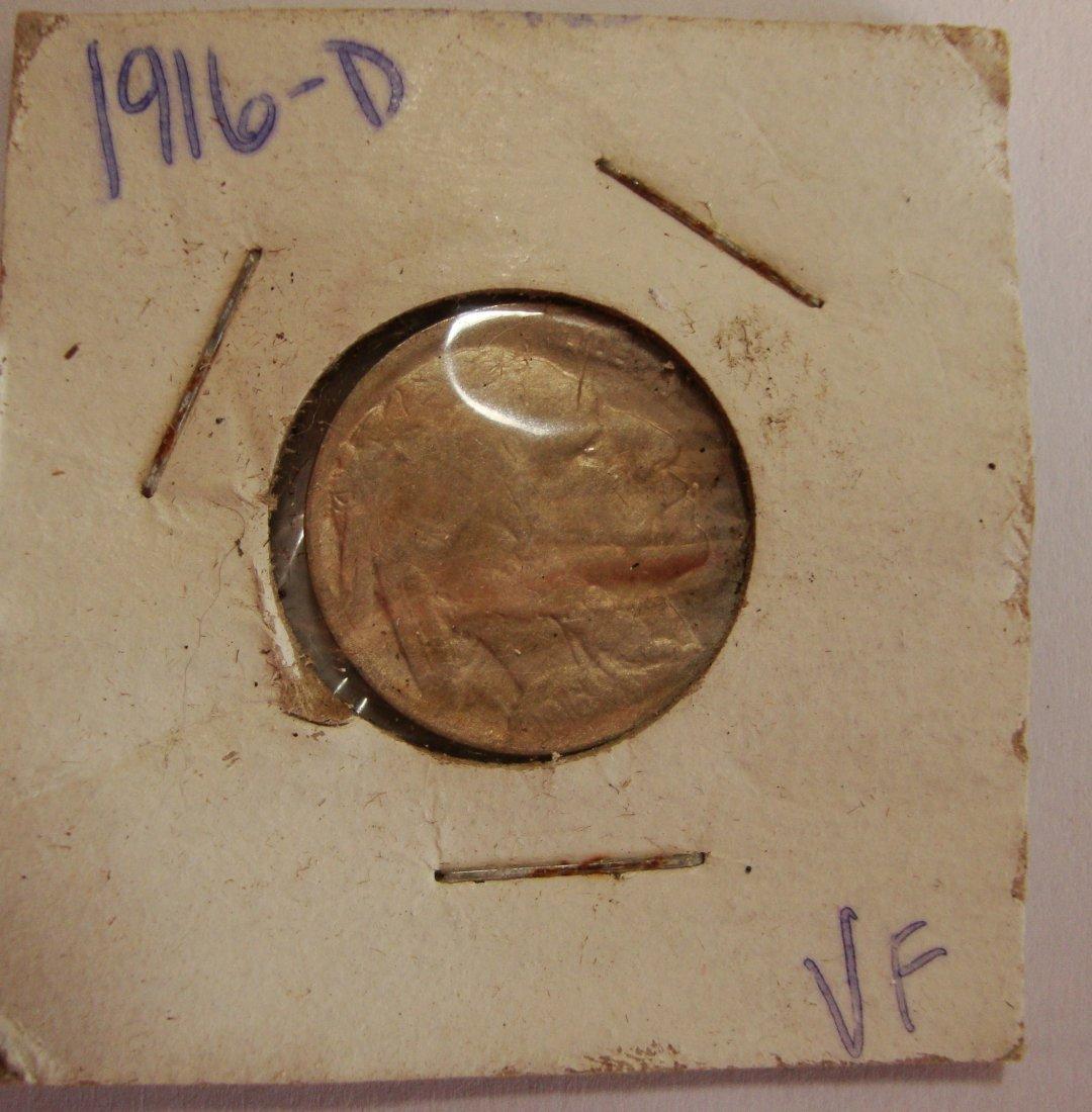 1916 D  Buffalo Nickel 5c VF