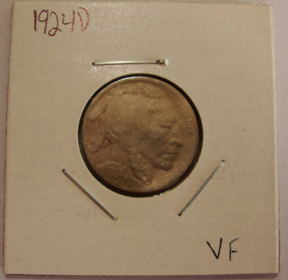 1924 D  Buffalo Nickel 5c VF