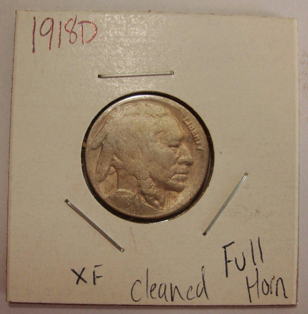 1918 D Buffalo Nickel 5c XF