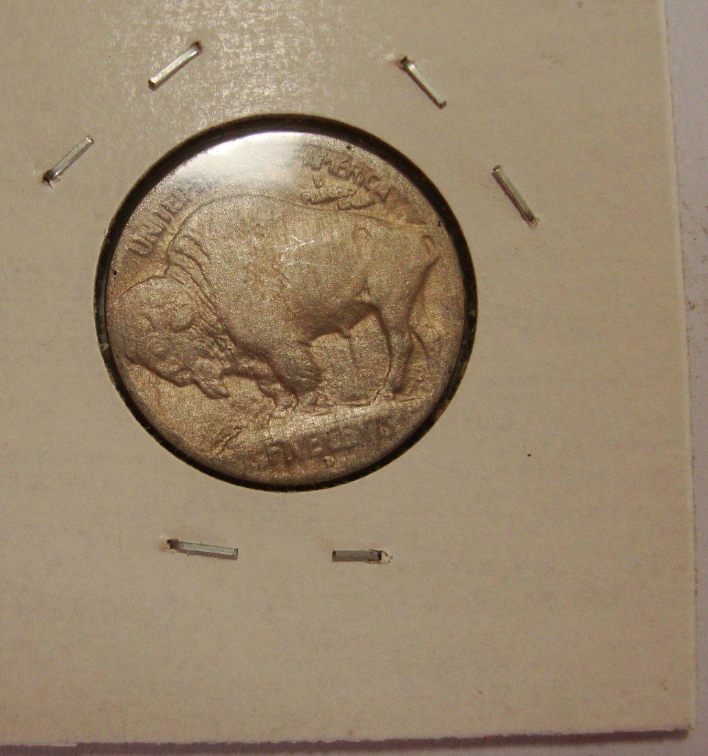 1913 D Type 1 Buffalo Nickel 5c AU #2 - 2