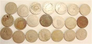 Lot of 21 1890 V Liberty Nickels