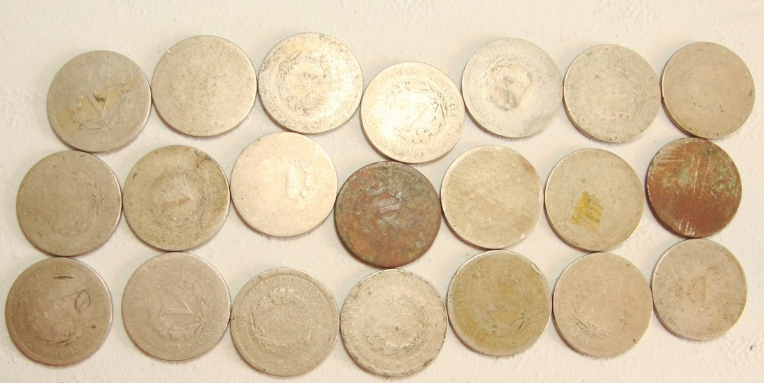 Lot of 21 1890 V Liberty Nickels - 2