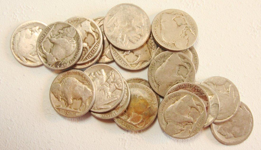 Lot of 20 Buffalo Nickels #4