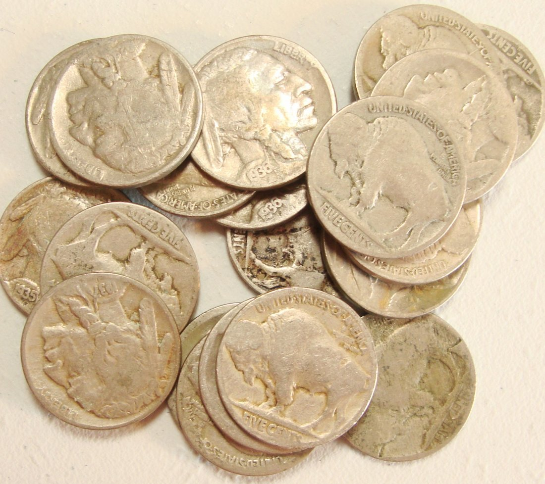 Lot of 20 Buffalo Nickels #7