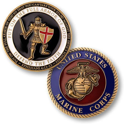 Armor of God US Marine Challenge Coin