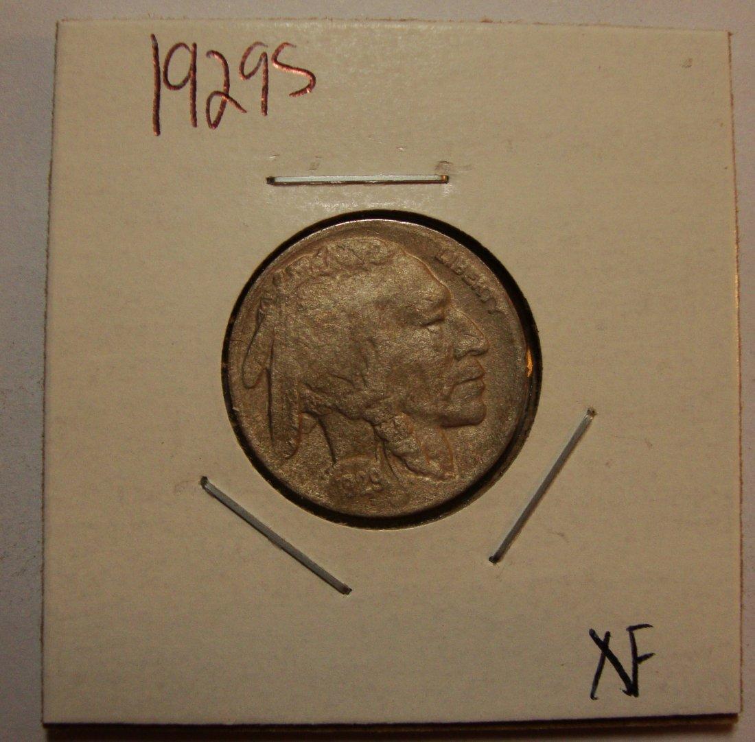 1929 S Buffalo Nickel XF