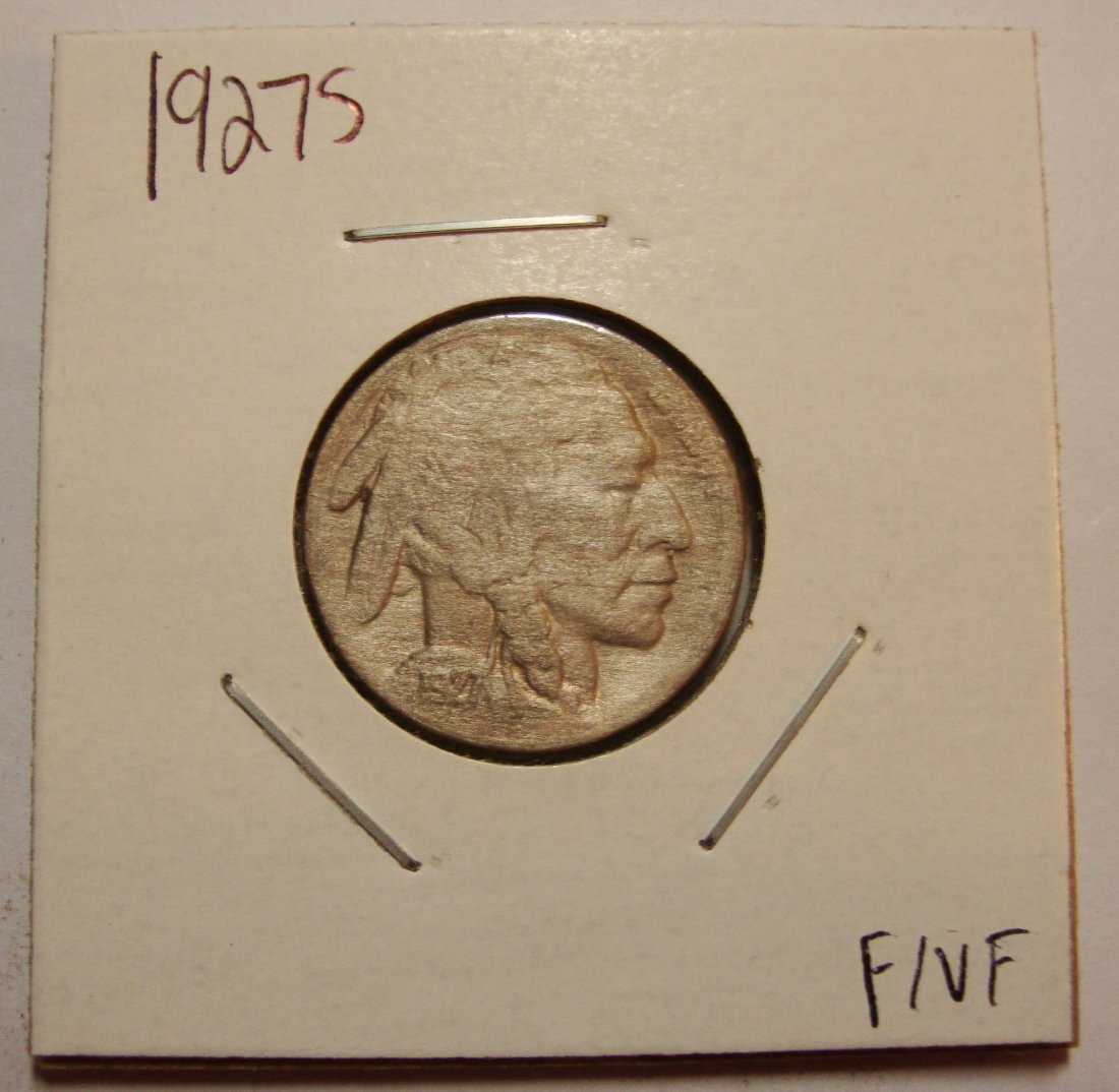 1927 S Buffalo Nickel F+