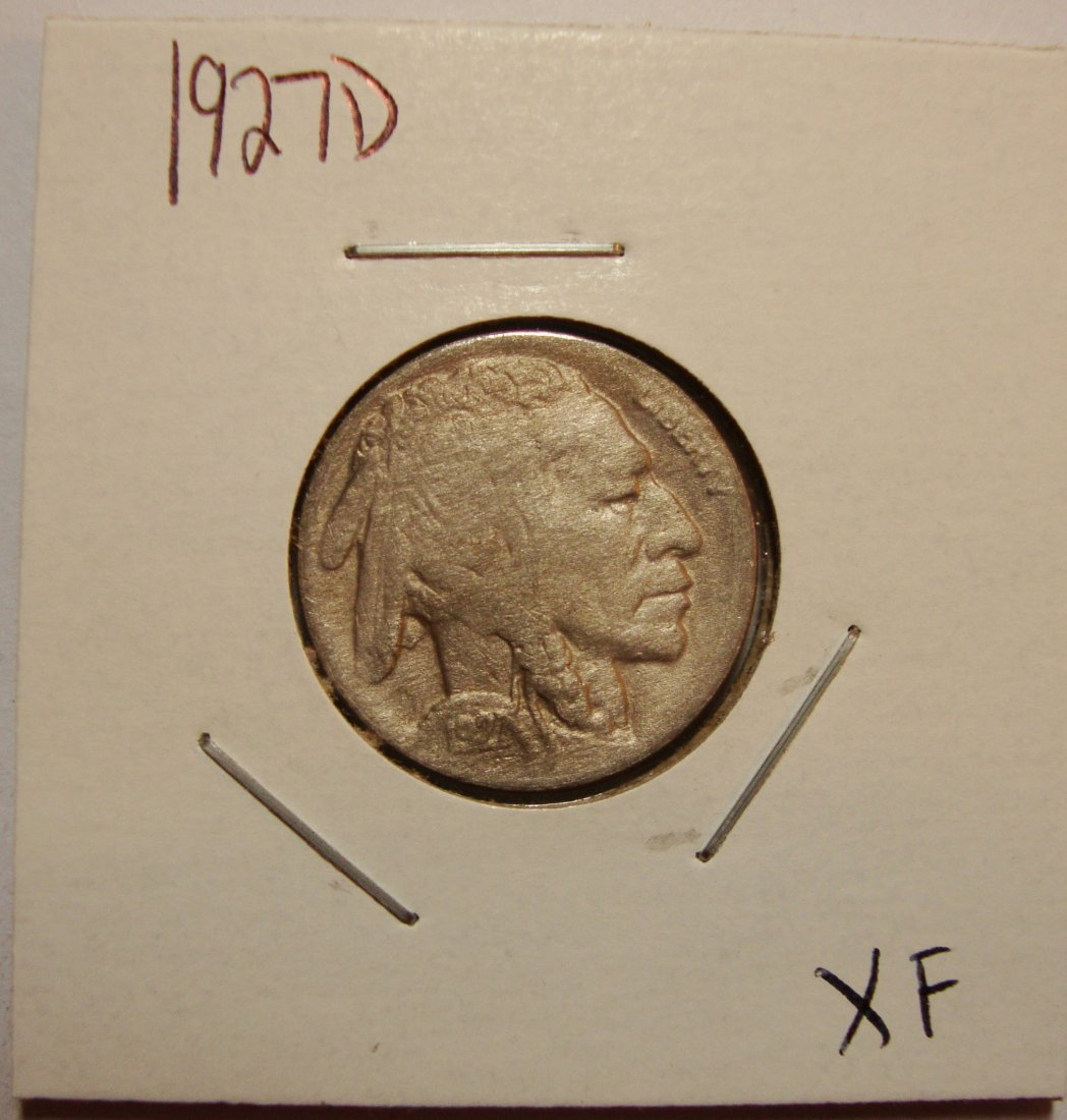 1927 D Buffalo Nickel XF