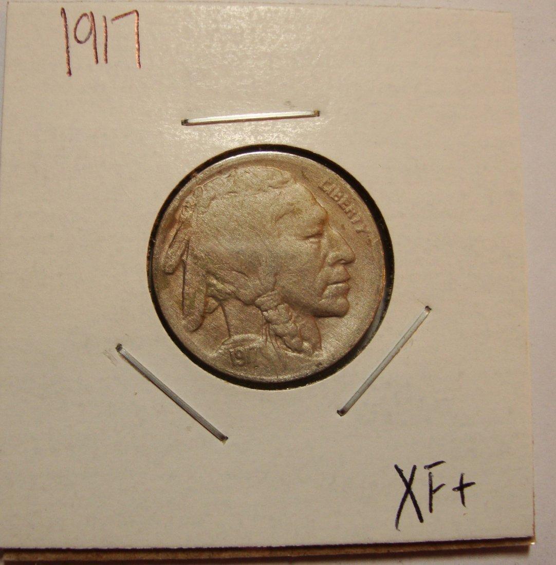 1917 Buffalo Nickel 5c XF+