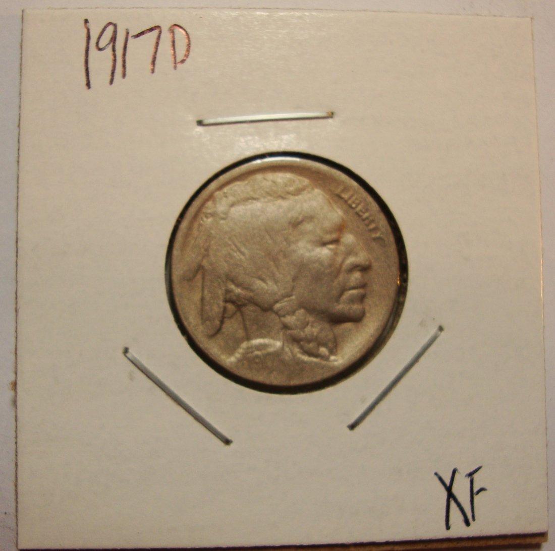 1917 D Buffalo Nickel 5c XF