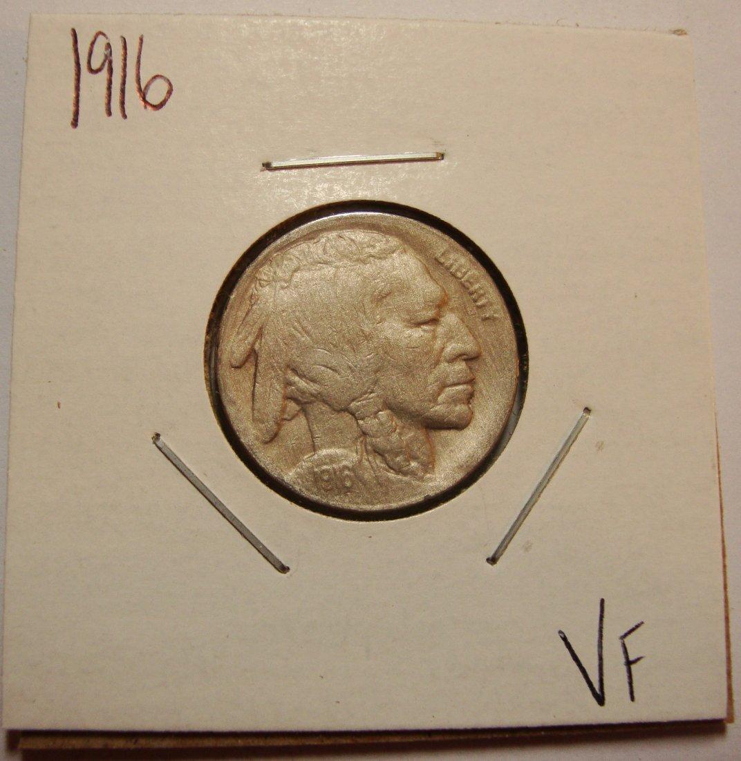 1916 Buffalo Nickel 5c VF