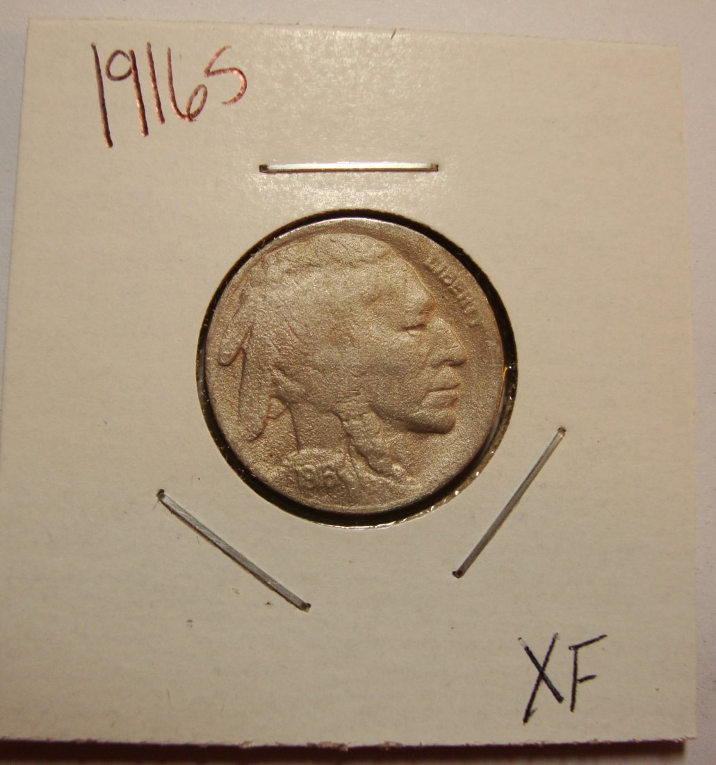 1916 S Buffalo Nickel 5c XF