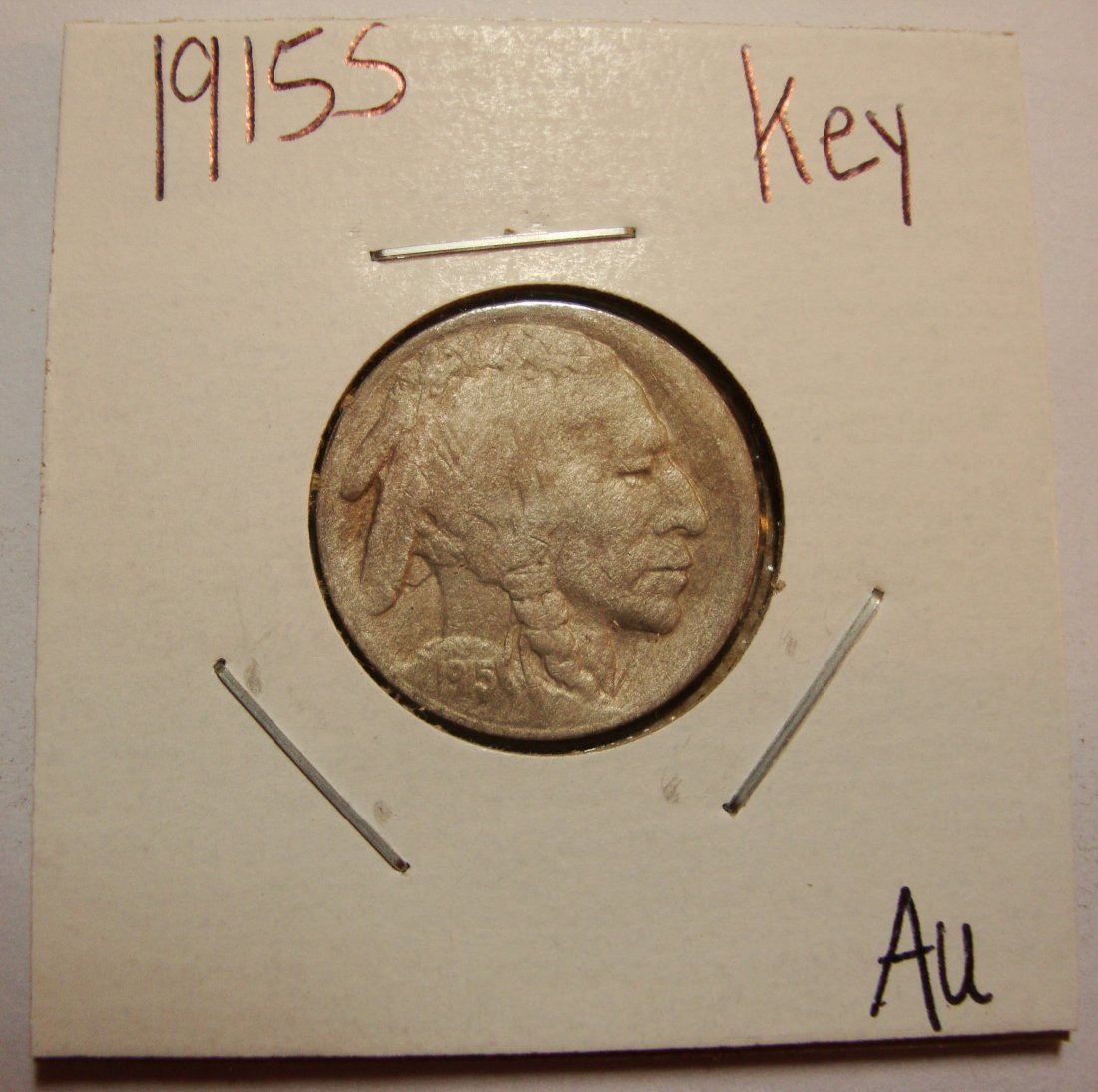 1915 S Buffalo Nickel 5c AU DETAILS