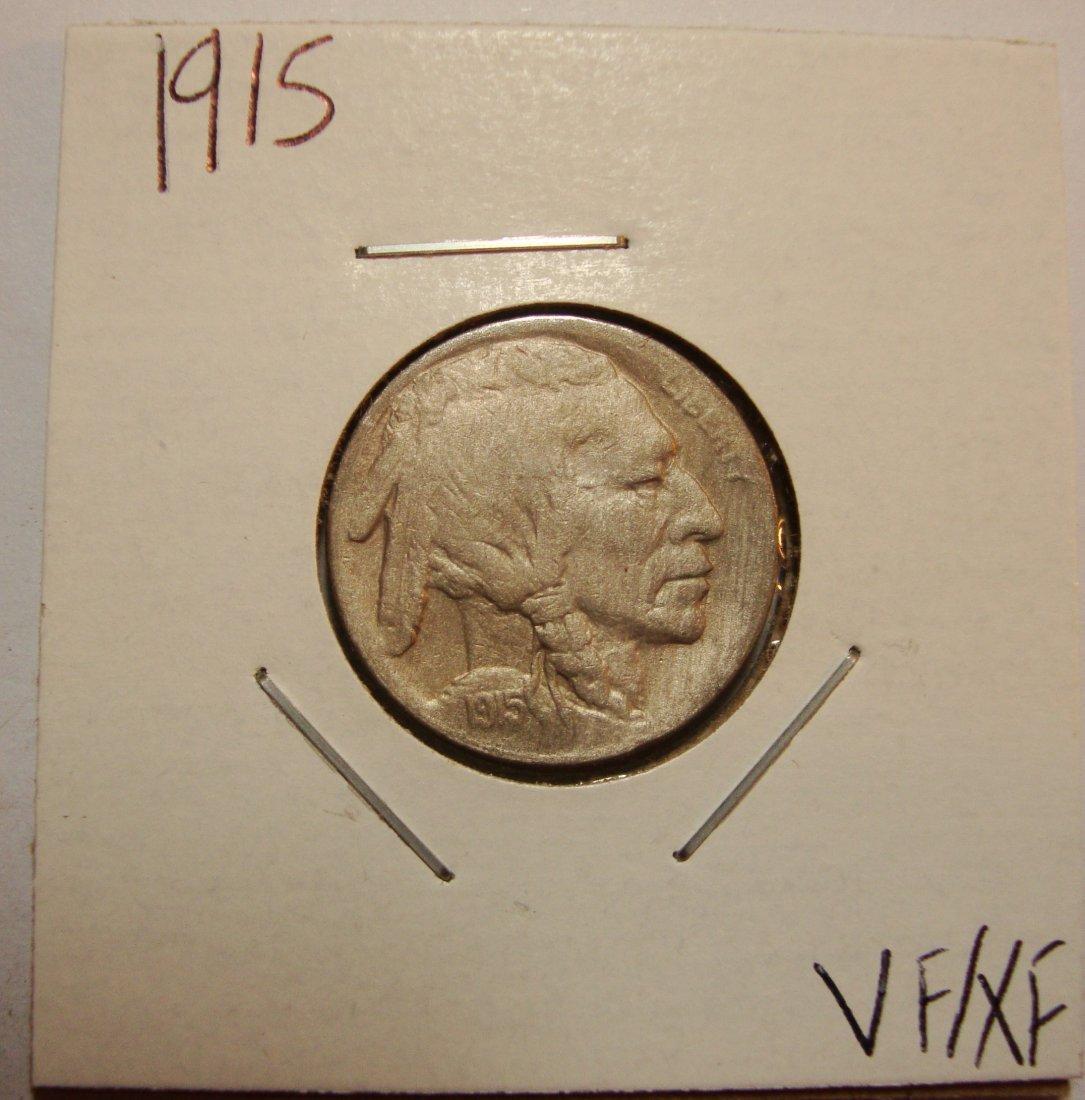 1915 Buffalo Nickel 5c VF/XF