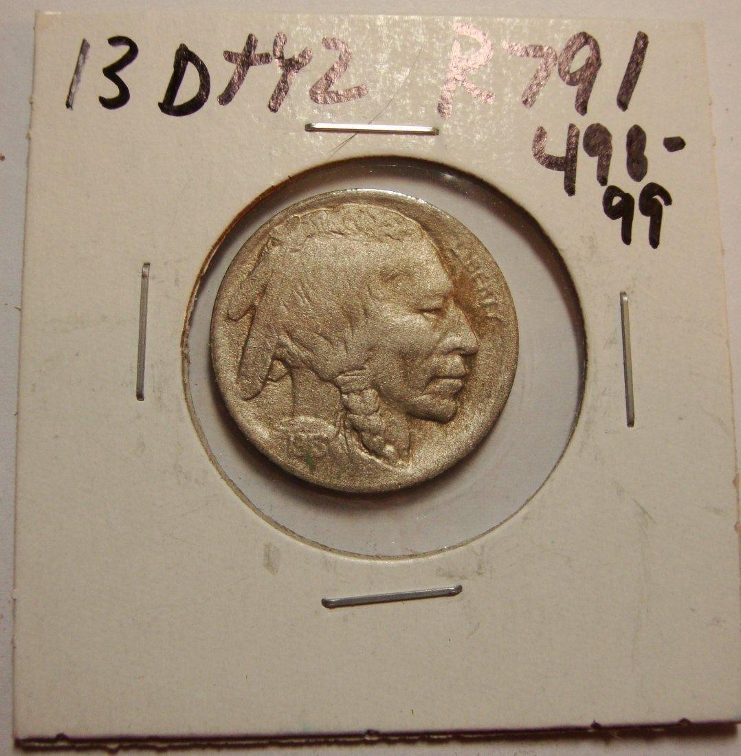 1913 D Type 2  Buffalo Nickel 5c XF/AU