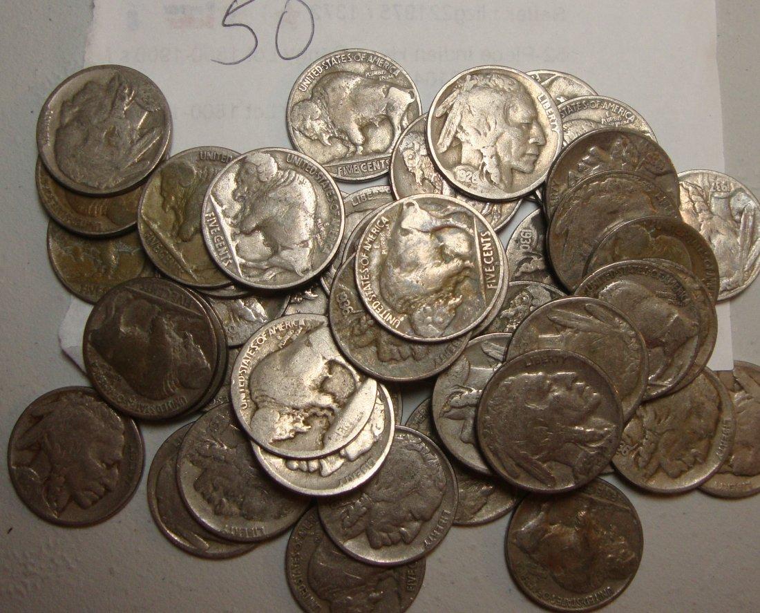 Lot of 50 Buffalo Nickels #2