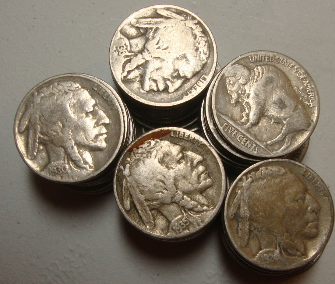 Lot of 50 Buffalo Nickels #2
