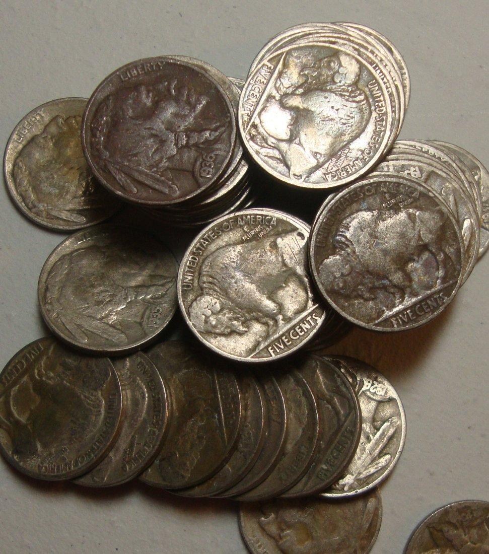 Lot of 50 Buffalo Nickels #3