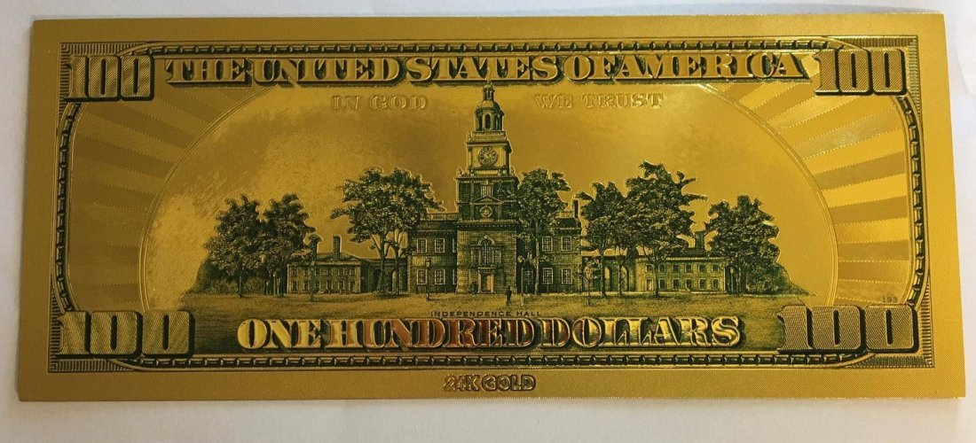 Gold Plated .999 24K $100 Bill Type 2 - 2