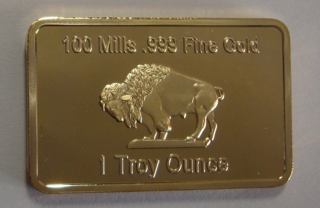 Buffalo Gold Plated Bar 1oz