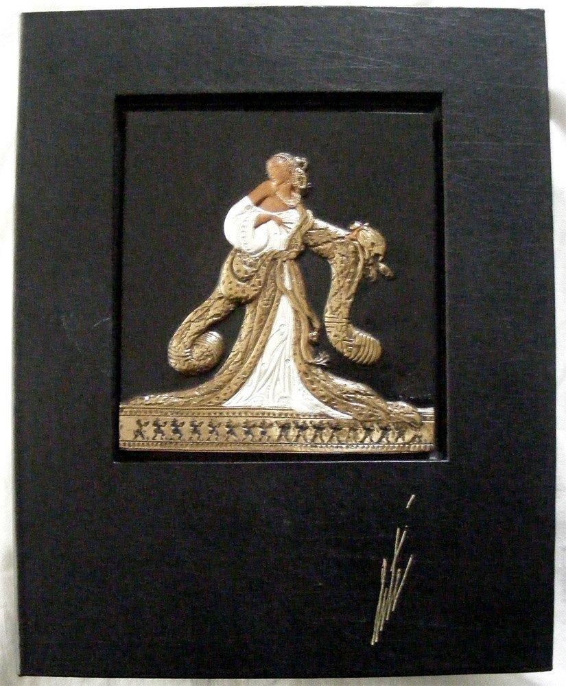 Erte Rigoletto Bronze Bas Relief LE Sculpture and Book
