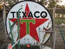 1817: LARGE TEXACO CIRCULAR SIGN