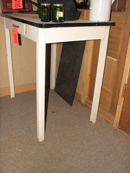 2001: SMALL KITCHEN TABLE   30 X 32 X 21 BLACK EDGE ON