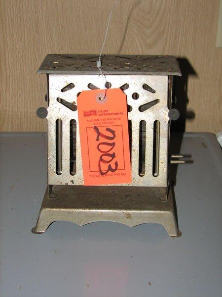 2003: ANTIQUE 1920'S PC. FLIP/FLOP TOASTER CHROME ART D