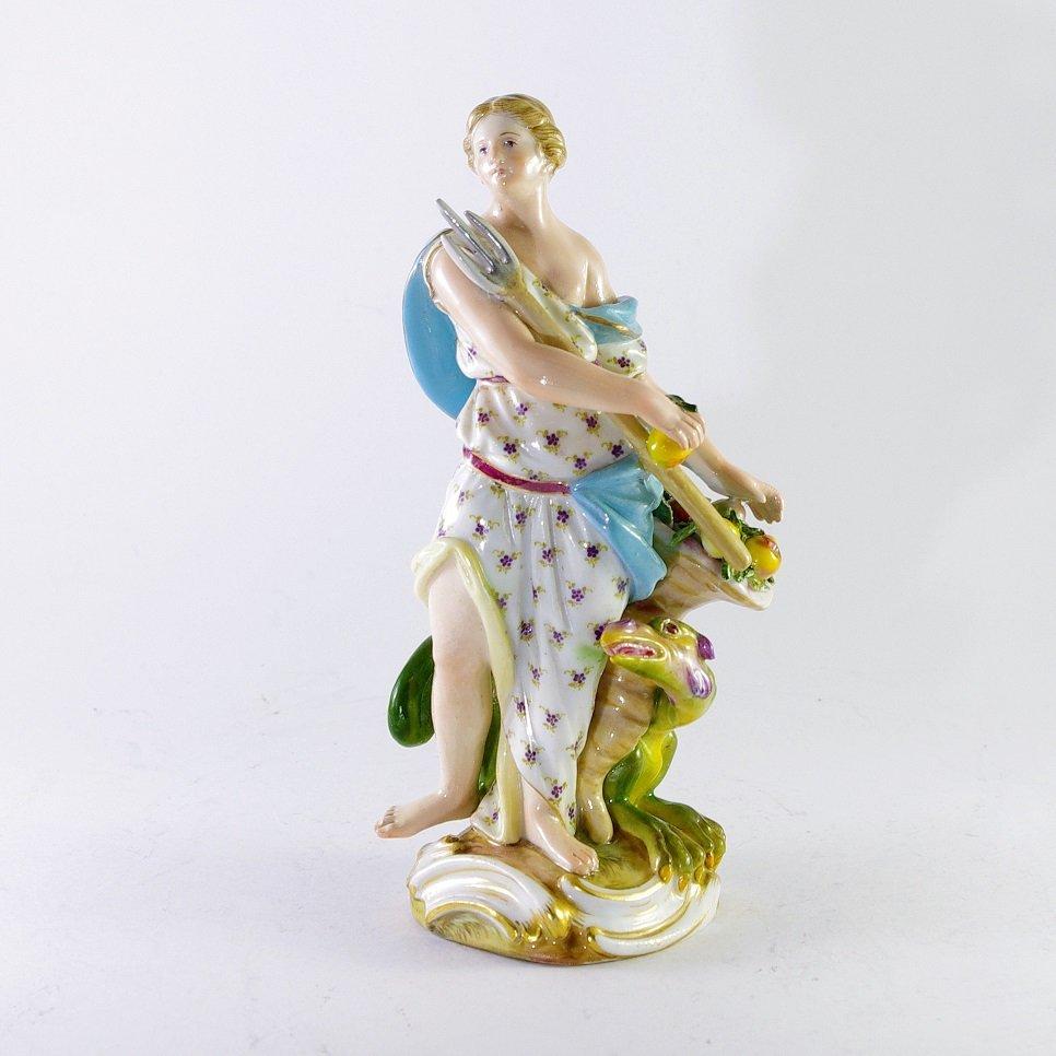 Meissen Figure of Woman, end of 18 century
