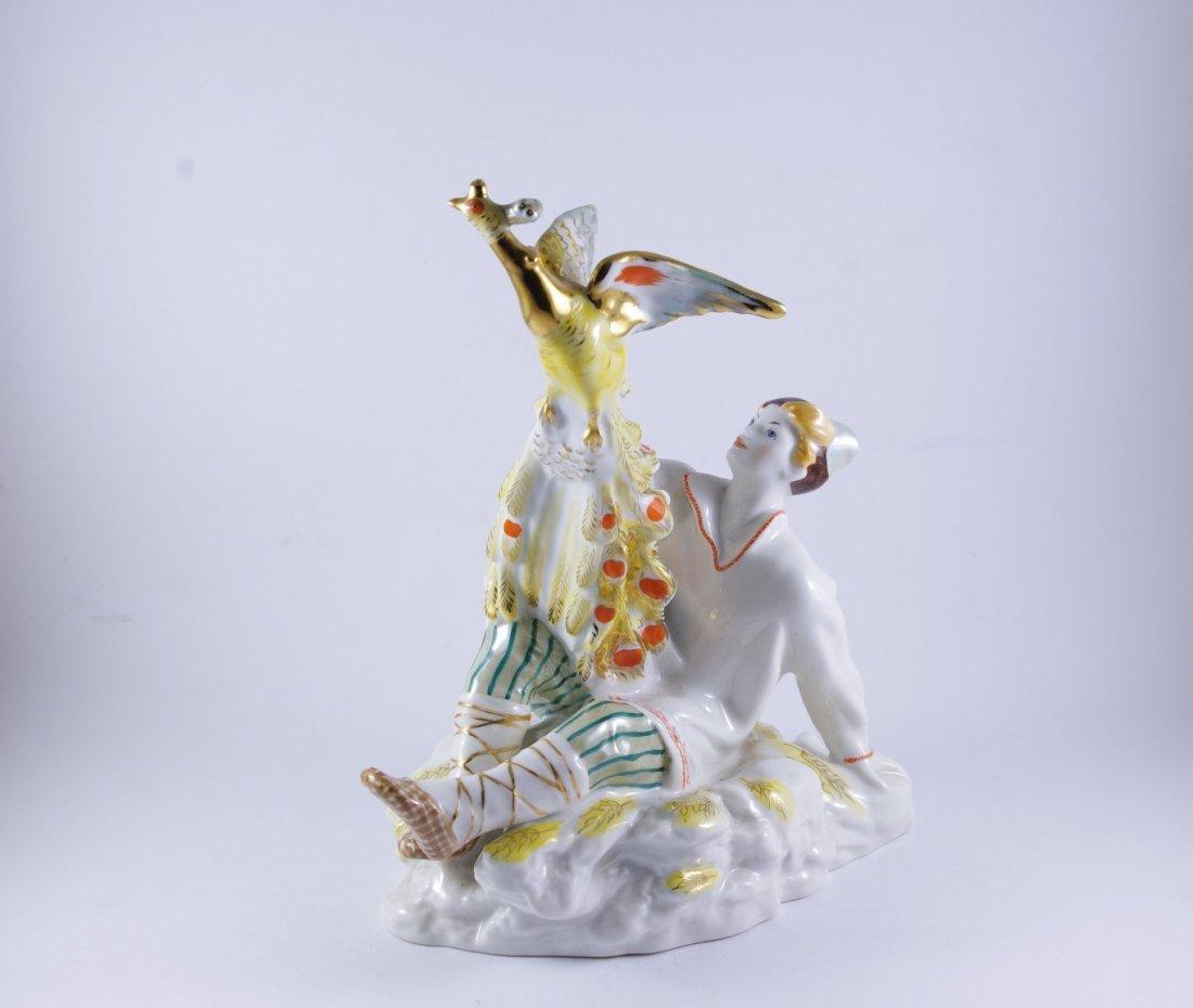 """A Russian LFZ Figure """"Ivan with firebird"""", 1960's"""