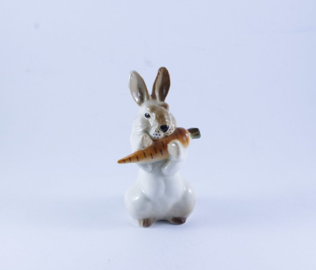"""A Russian LFZ Figure """" Hare with rabbit"""" 1950;s"""