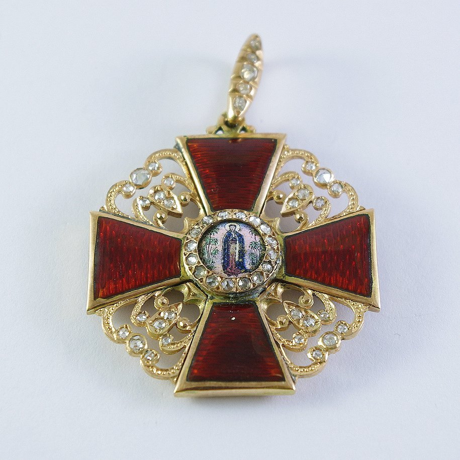 A Russian Order of St. Anne with diamonds ,19 century