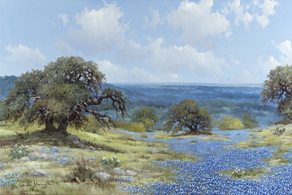 William Slaughter (1923-2003) Texas Bluebonnets