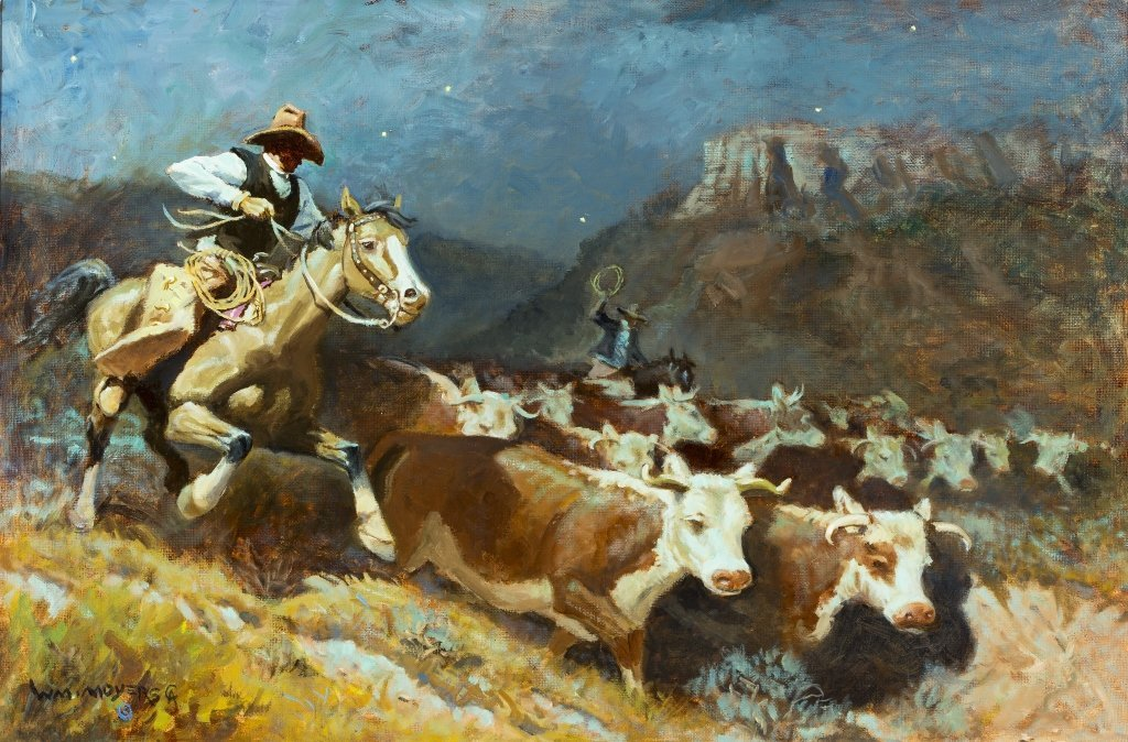 William Moyers (1916-2010) Another Man's Cattle