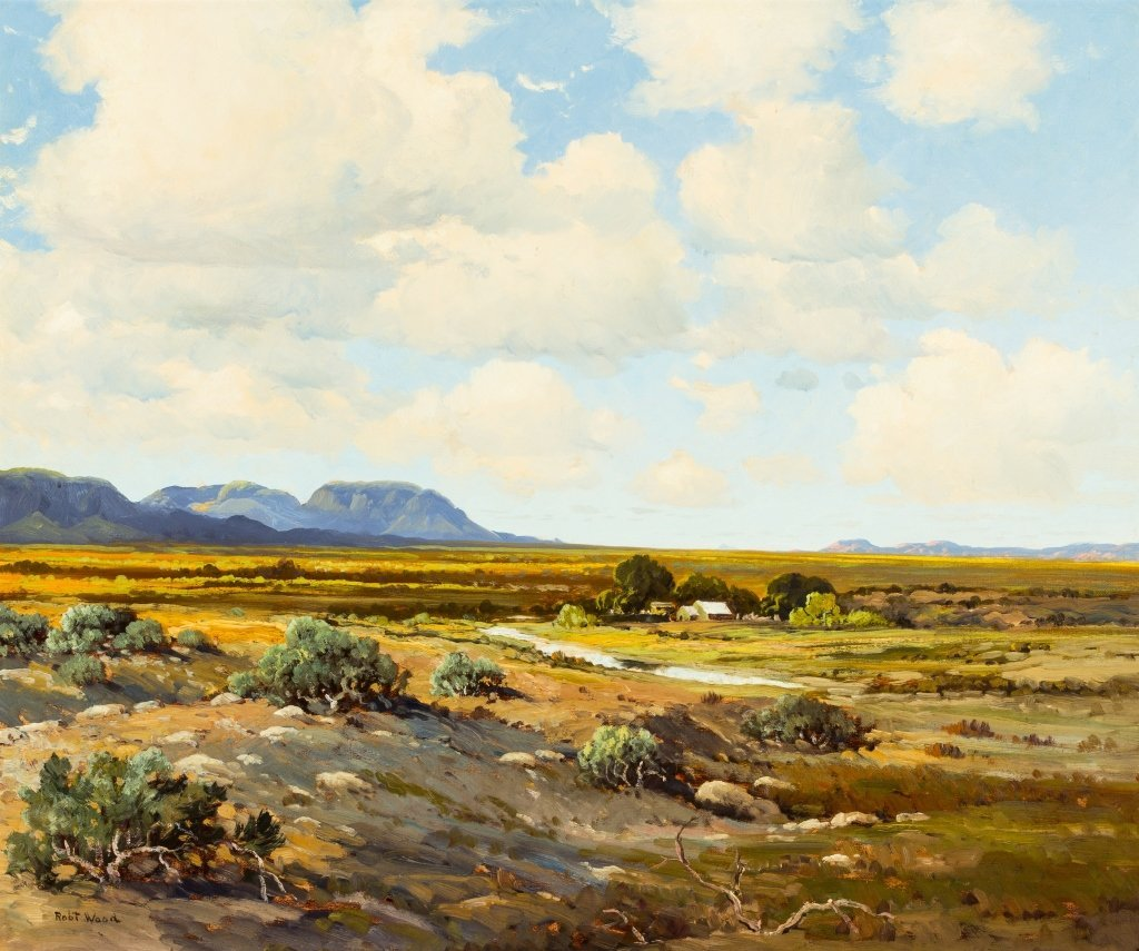 Robert Wood (1889-1979) West Texas Ranch