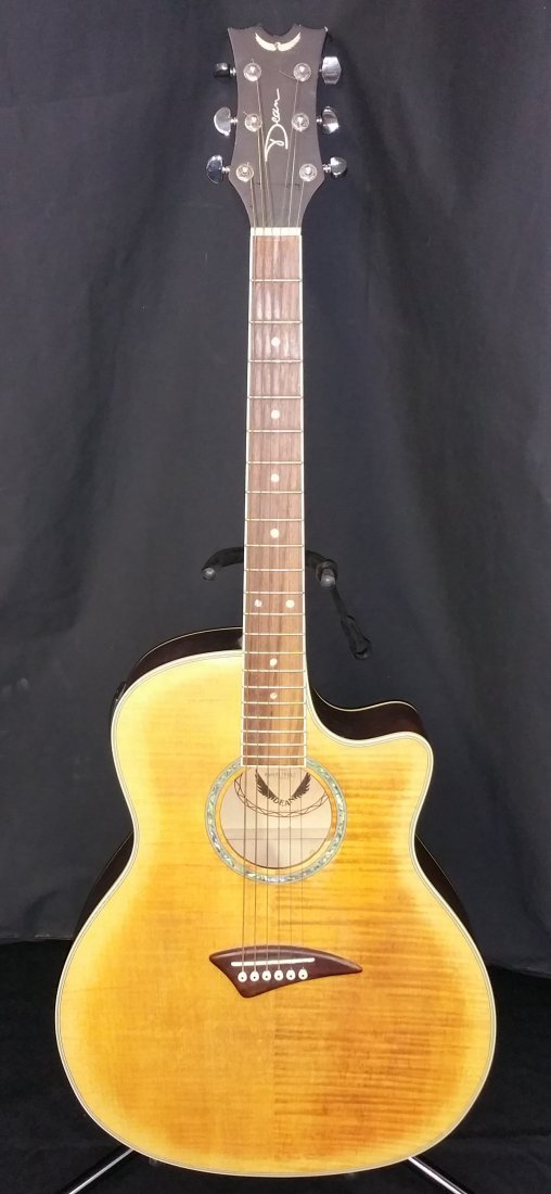 DEAN FLAME TOP ELECTRIC ACOUSTIC GUITAR