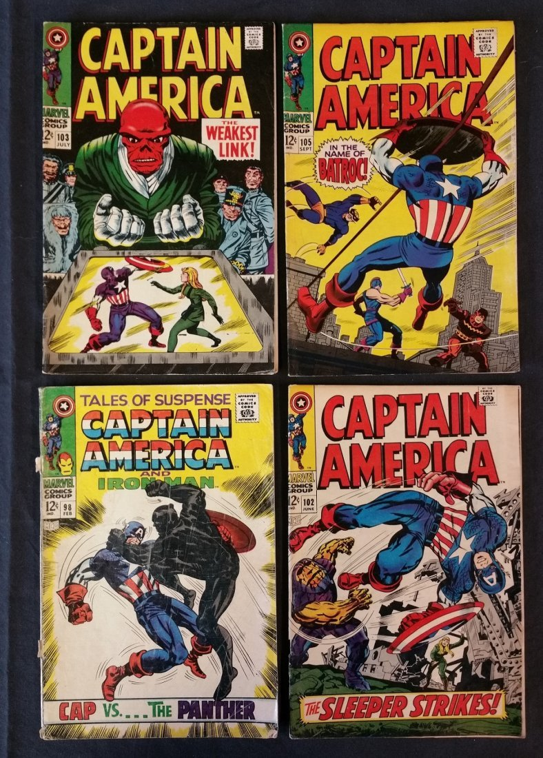 CAPTAIN AMERICA 12 CENT ISSUES MARVEL 4 COMIC LOT