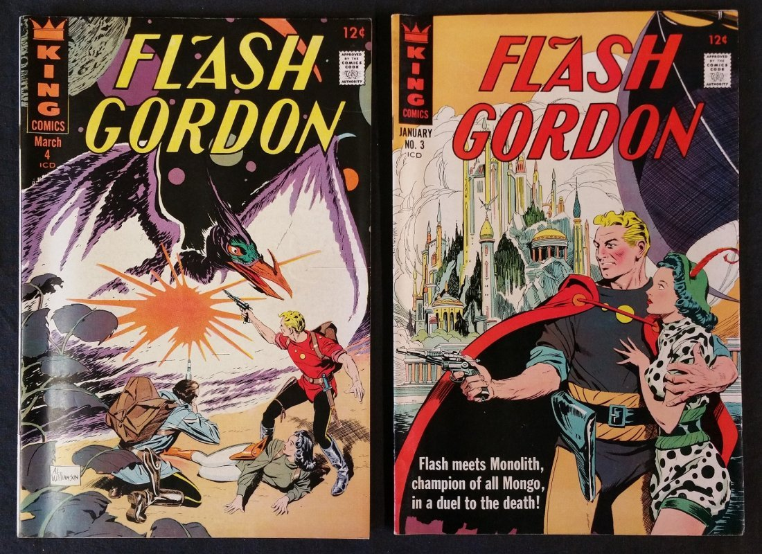 FLASH GORDON BY KING COMICS 12 CENT ISSUES, 2 COMIC LOT