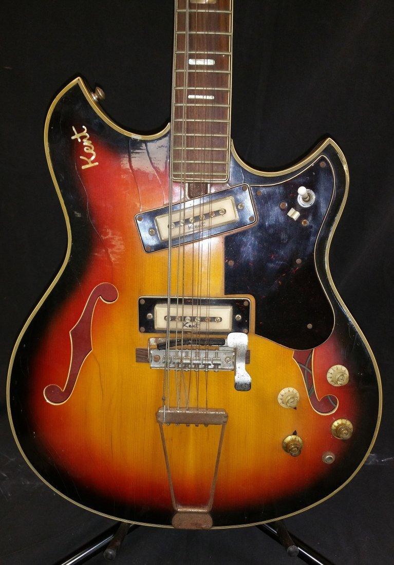 1960'S KENT ELECTRIC 12 STRING GUITAR - 2