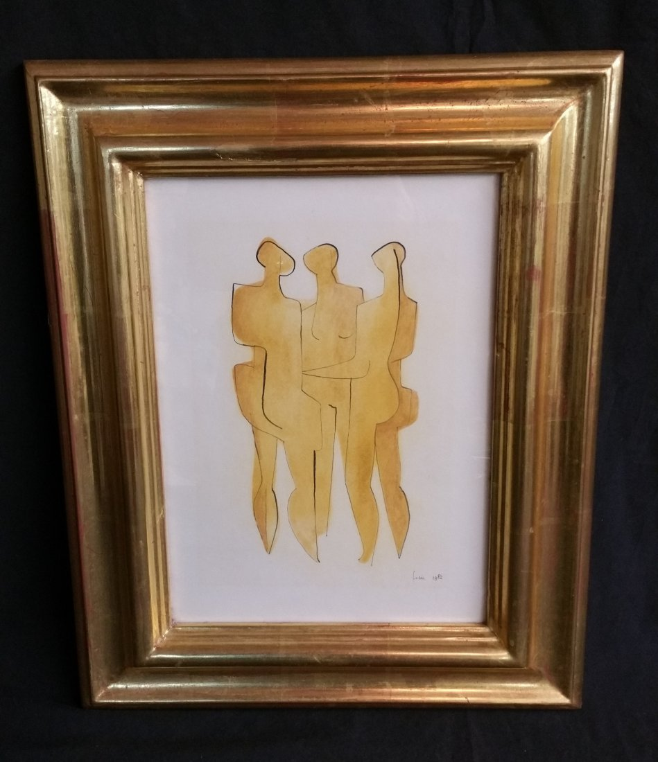 SIGNED ORIGINAL WATER COLOR BY HANS FREIE