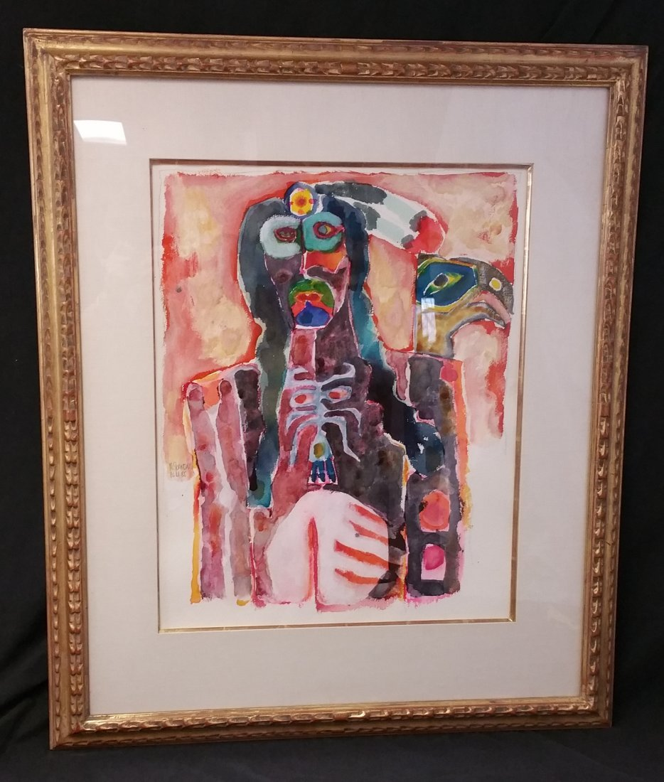 SIGNED ORIGINAL SOUTHWEST AMERICAN WATERCOLOR