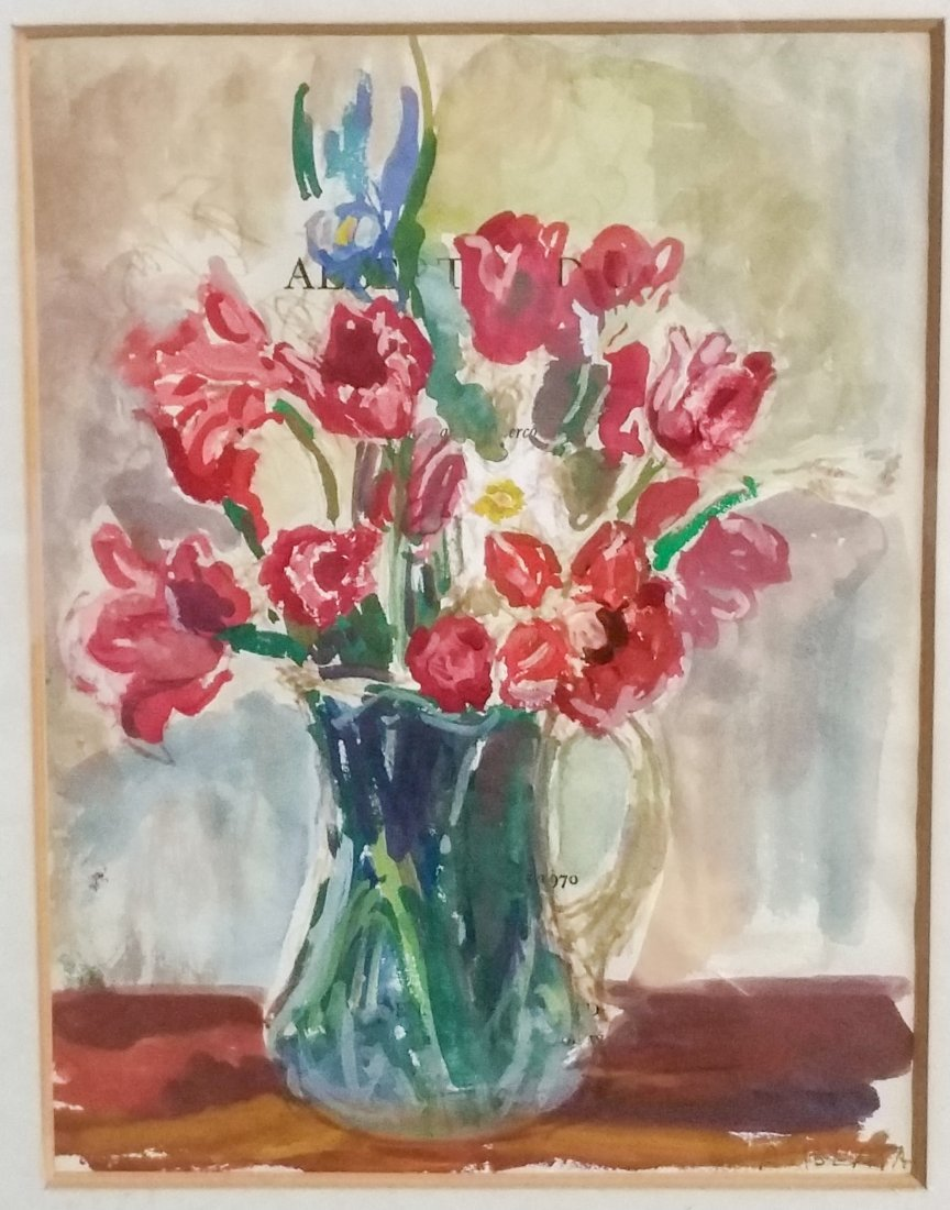 TULIPS ROUGE DANS AU VASE BY ARBIT BLATAS