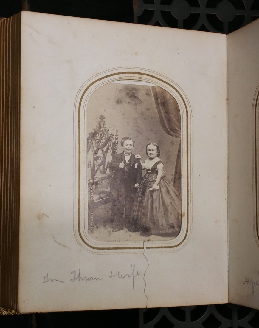 CIVIL WAR ERA CDV PHOTO ALBUM – BARNUM CELEBRITIES