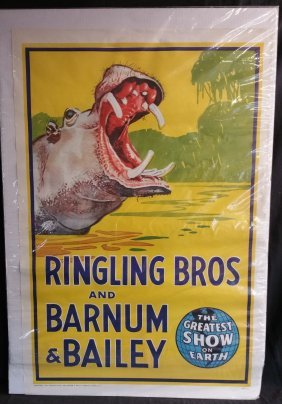 Ringling Bros. and Barnum & Bailey Circus Hippo Poster