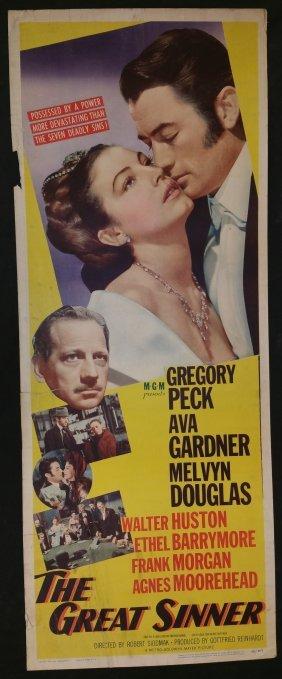 "Vintage Movie Poster ""The Great Sinner"" 1949 Metro"