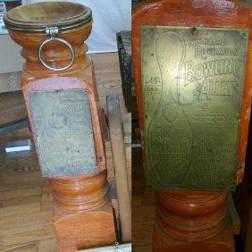 The Brunswick Balke Collender Co+ Vintage Sign + Return