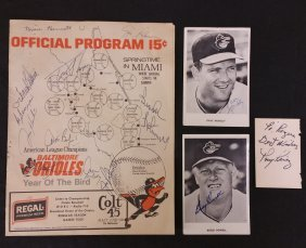 Signed Baltimore Orioles 1970 Official Program Signed +