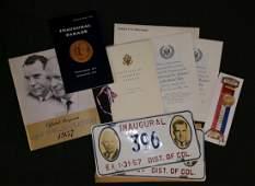 1957 Eisenhower � Nixon Inauguration Committee Official